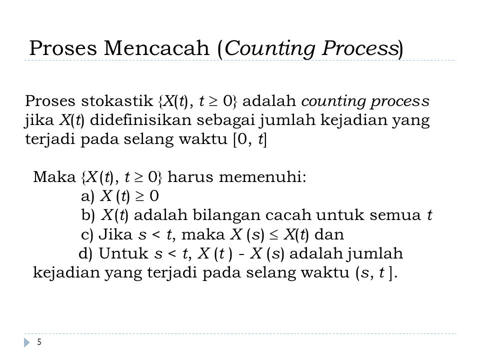 Proses Mencacah (Counting Process)