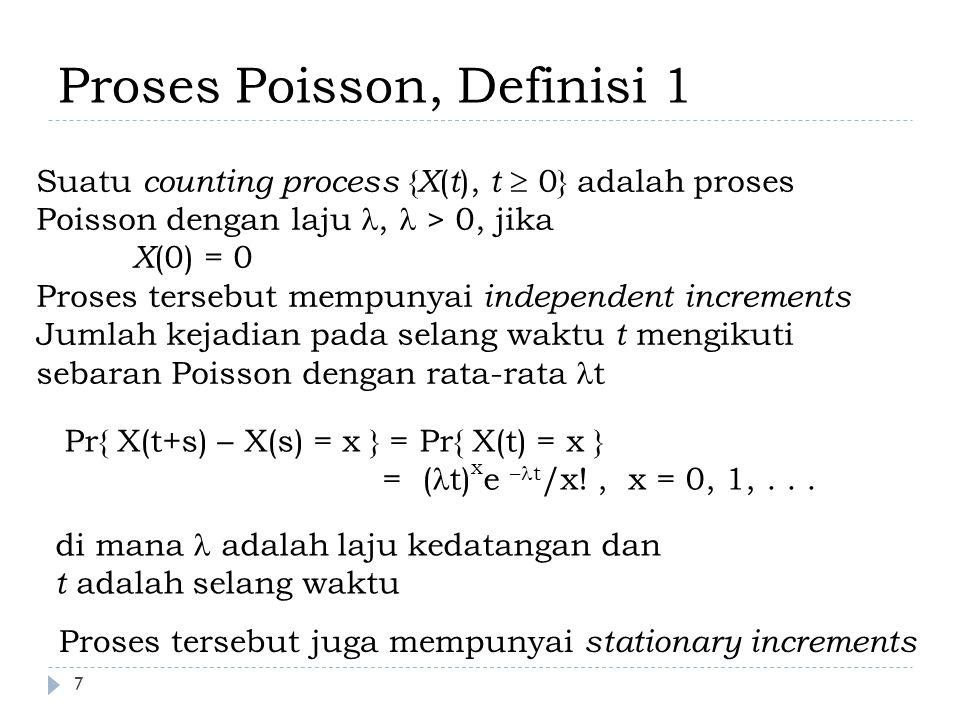 Proses Poisson, Definisi 1