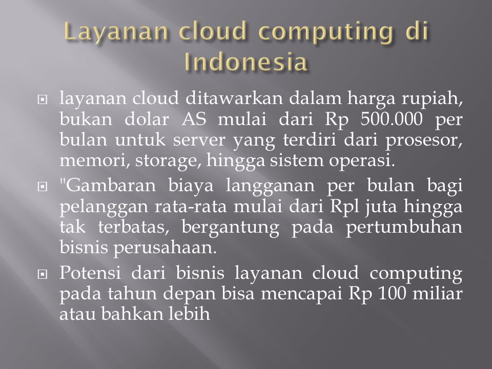 Layanan cloud computing di Indonesia