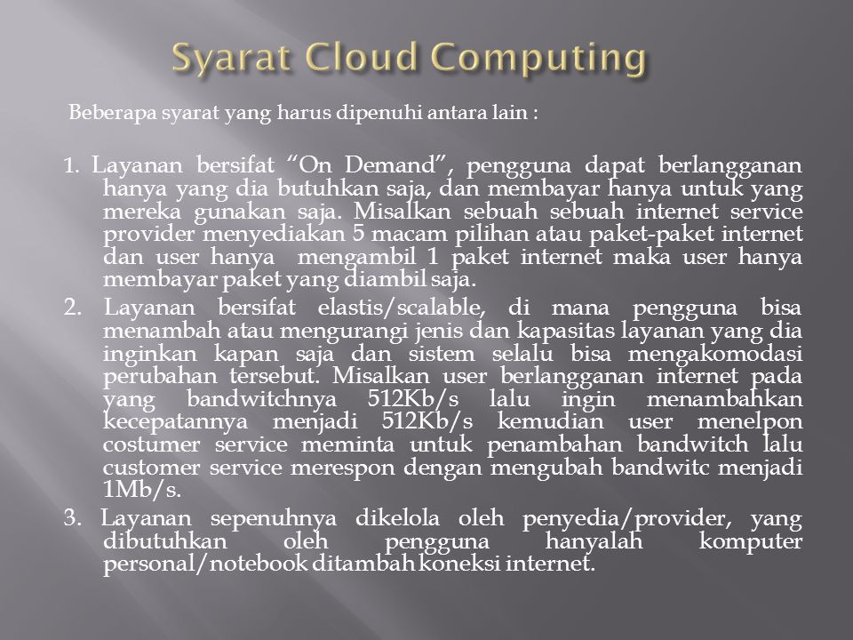 Syarat Cloud Computing