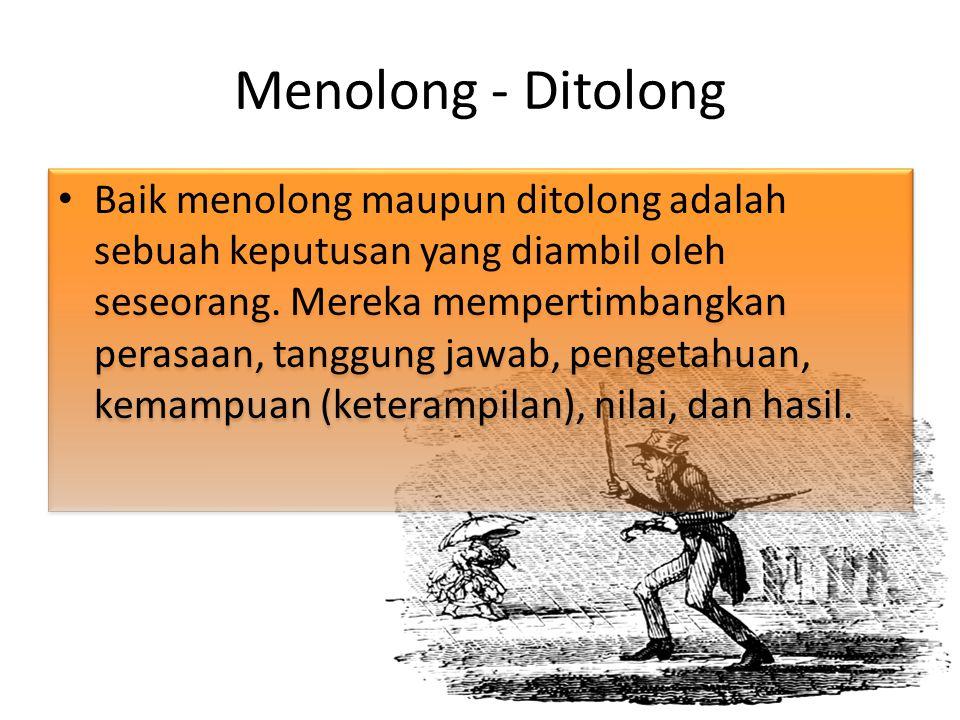 Menolong - Ditolong