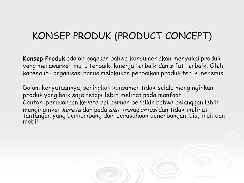 KONSEP PRODUK (PRODUCT CONCEPT)