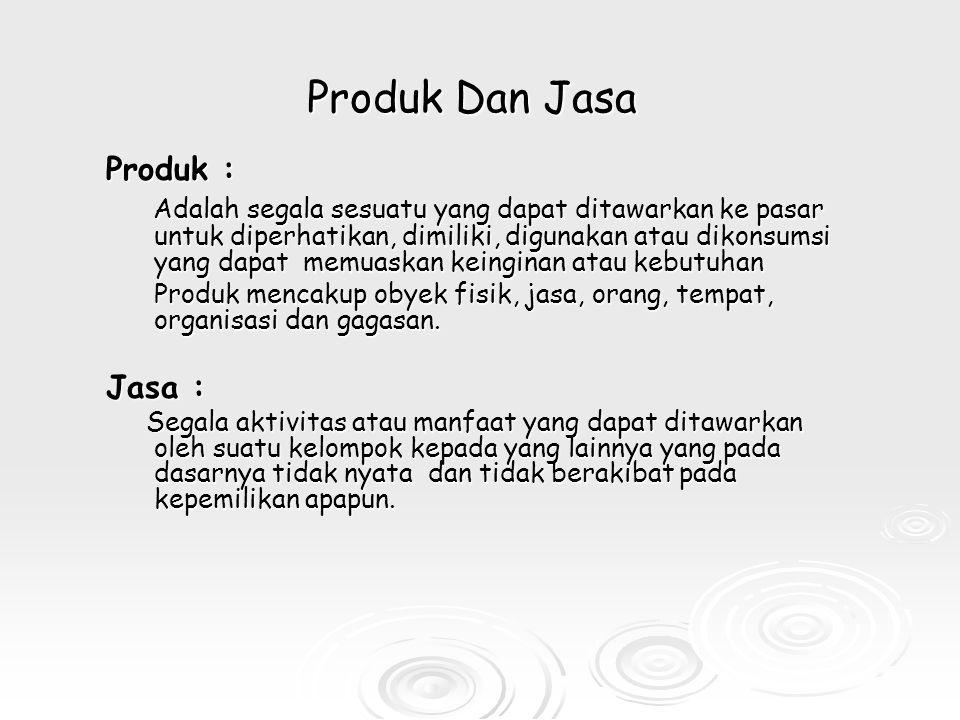 Produk Dan Jasa Produk :
