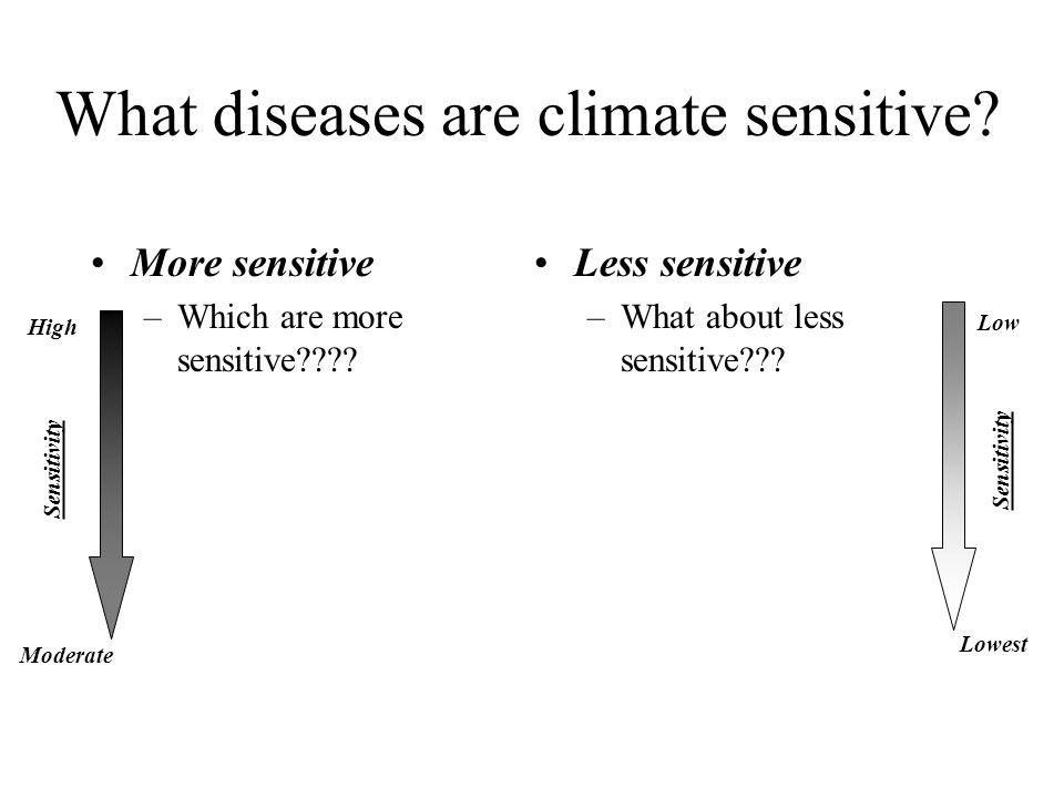 What diseases are climate sensitive