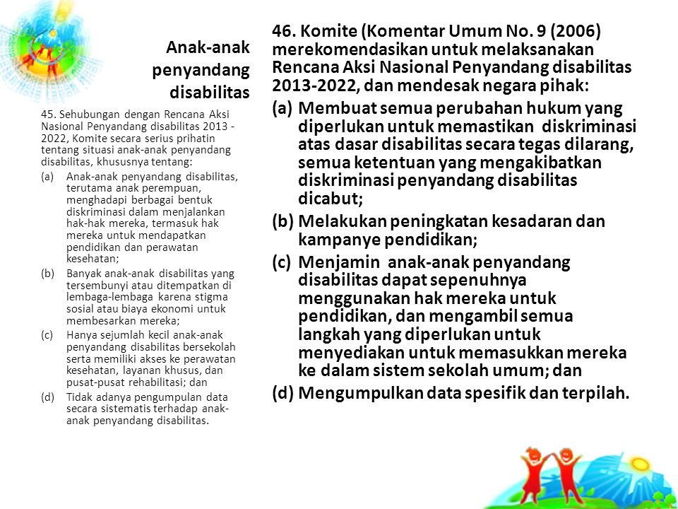 Anak-anak penyandang disabilitas