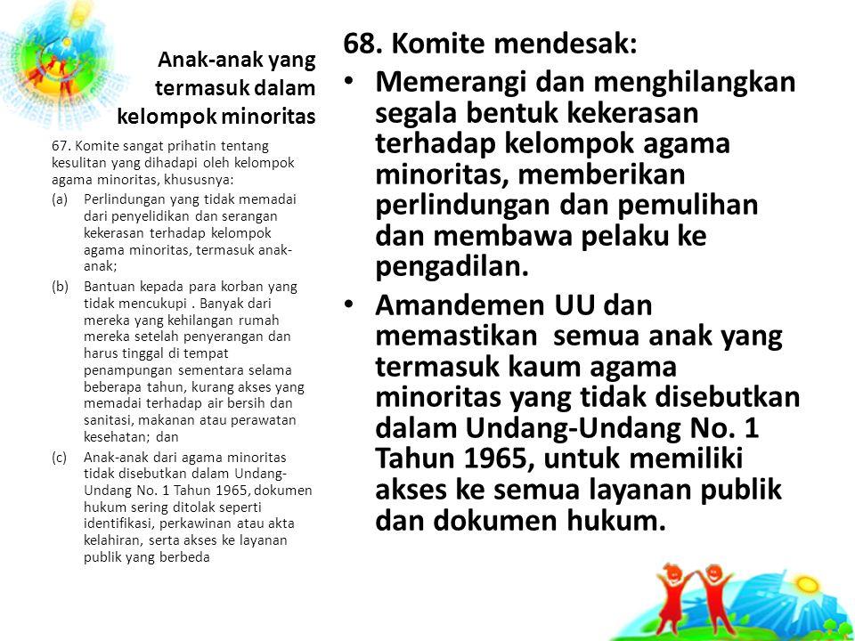 Anak-anak yang termasuk dalam kelompok minoritas