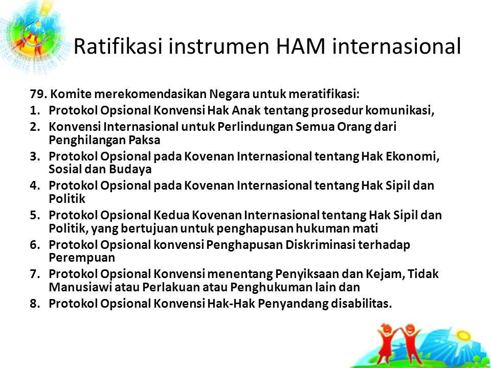 Ratifikasi instrumen HAM internasional