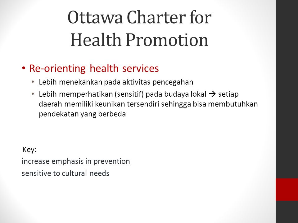 Ottawa Charter for Health Promotion