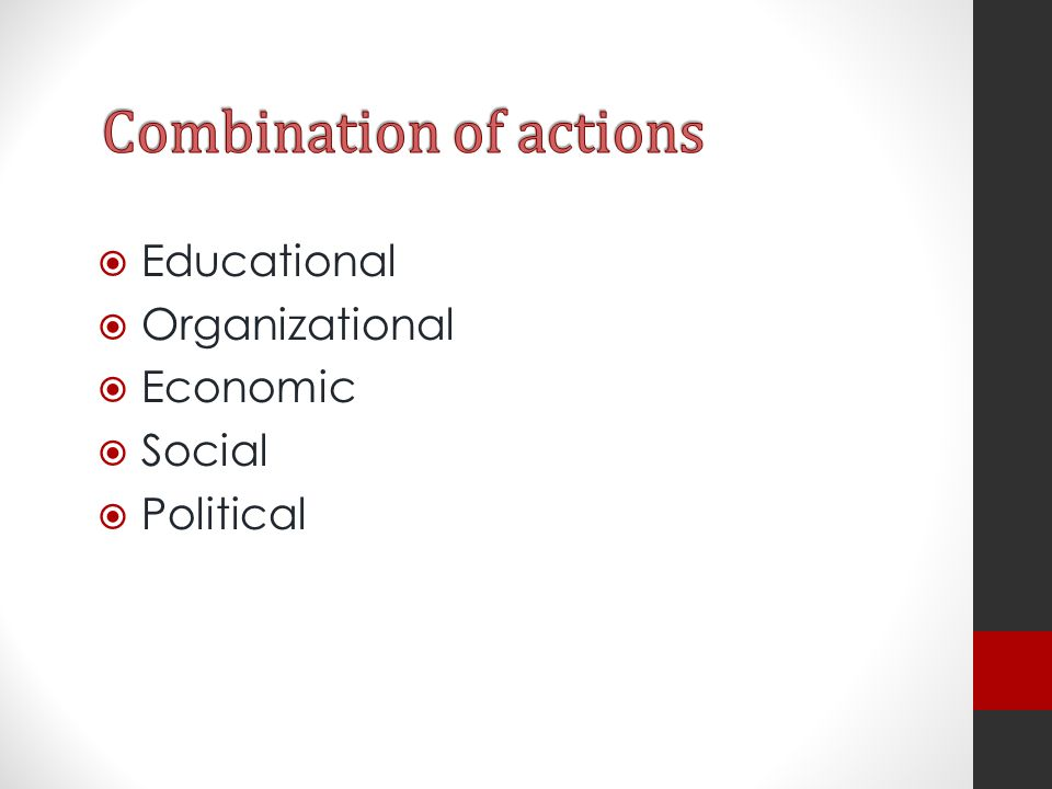 Combination of actions