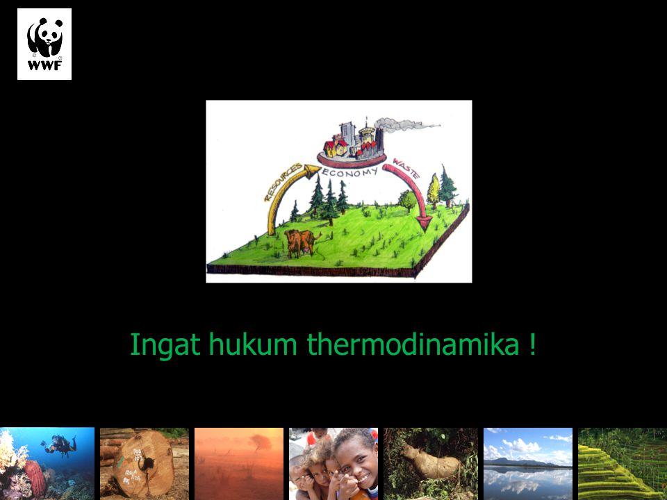 Ingat hukum thermodinamika !