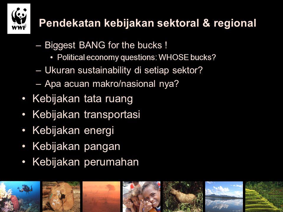 Pendekatan kebijakan sektoral & regional