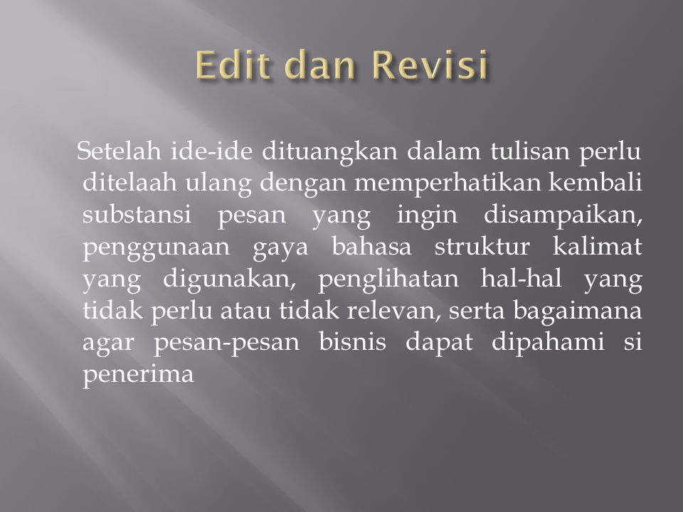 Edit dan Revisi