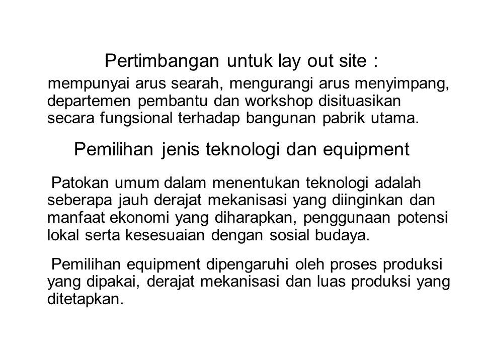 Pertimbangan untuk lay out site :