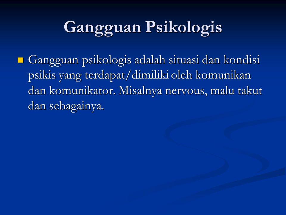 Gangguan Psikologis