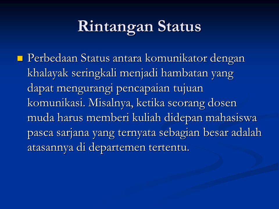 Rintangan Status