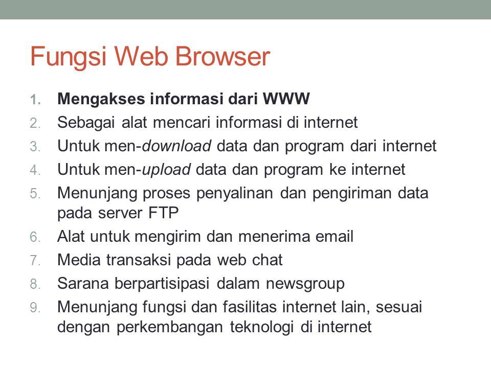 Fungsi Web Browser Mengakses informasi dari WWW