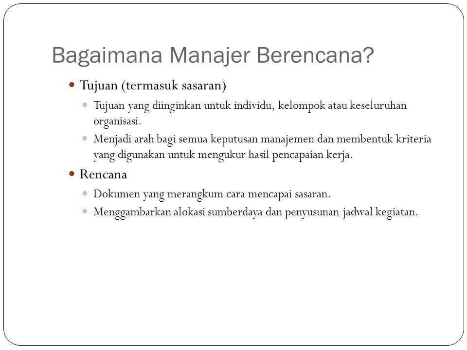 Bagaimana Manajer Berencana