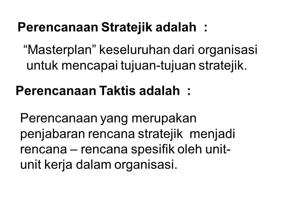 Perencanaan Stratejik adalah :