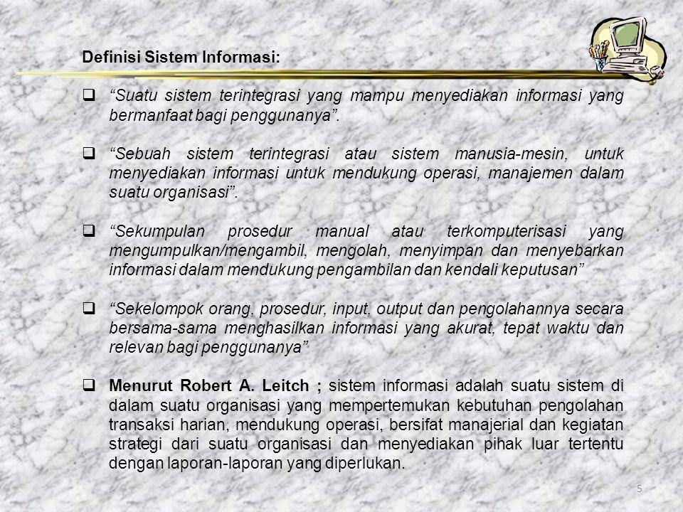 Definisi Sistem Informasi: