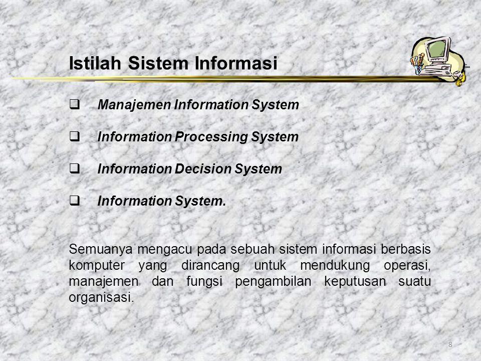 Istilah Sistem Informasi