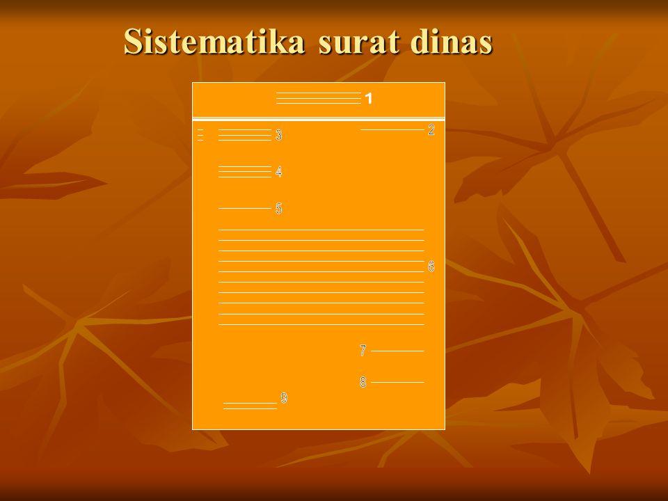Sistematika surat dinas
