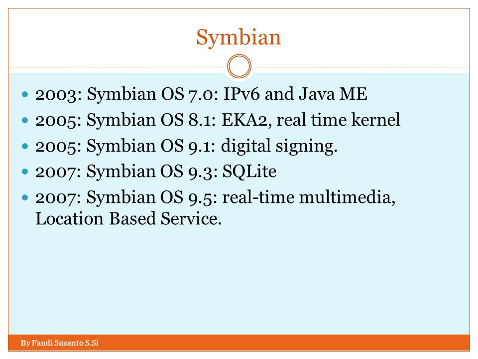 Symbian 2003: Symbian OS 7.0: IPv6 and Java ME