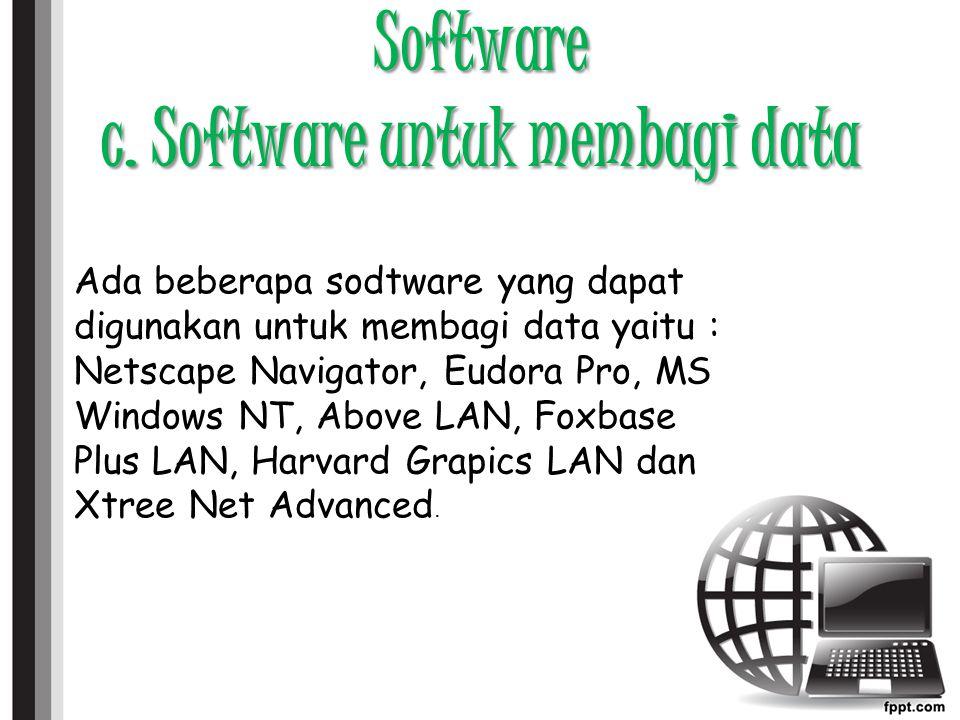 Software c. Software untuk membagi data
