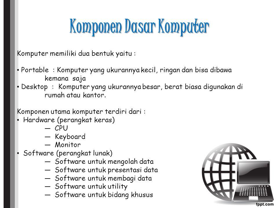 Komponen Dasar Komputer