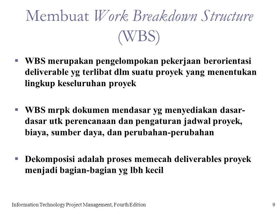 Membuat Work Breakdown Structure (WBS)