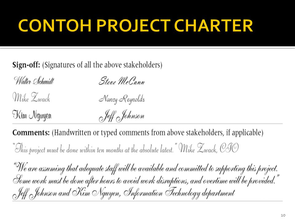 CONTOH PROJECT CHARTER