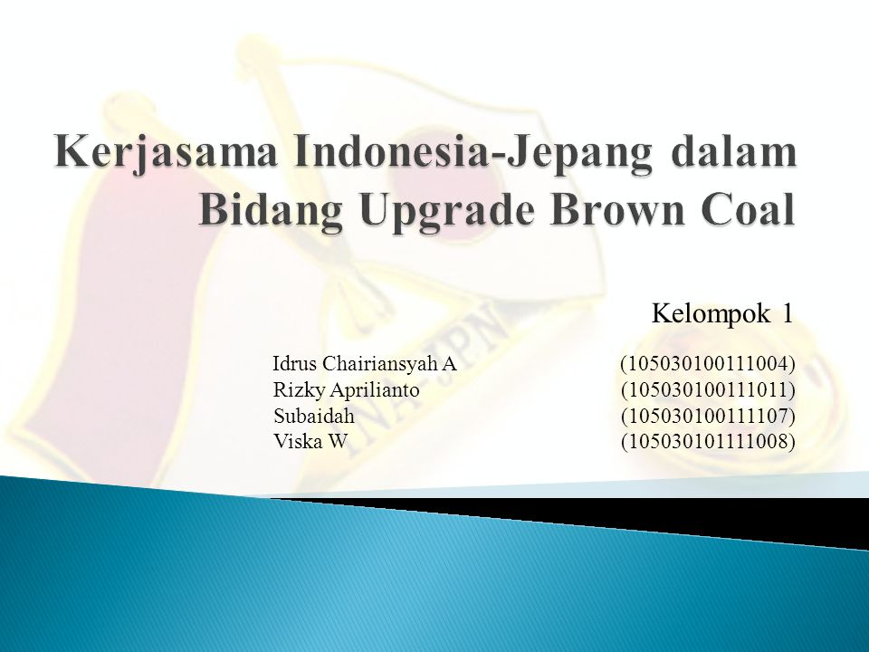 Kerjasama Indonesia-Jepang dalam Bidang Upgrade Brown Coal