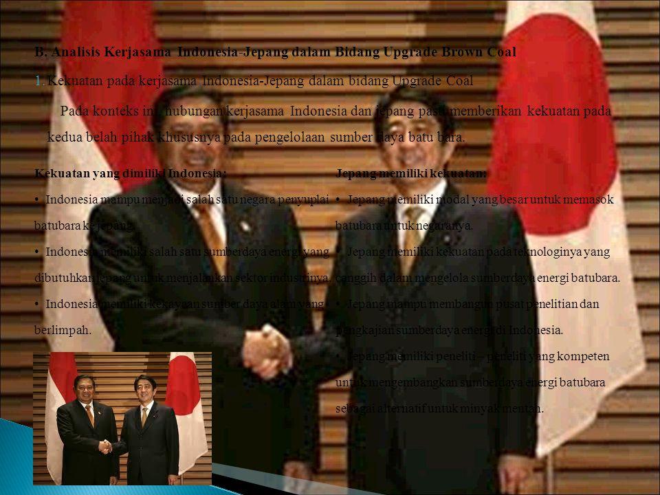 B. Analisis Kerjasama Indonesia-Jepang dalam Bidang Upgrade Brown Coal