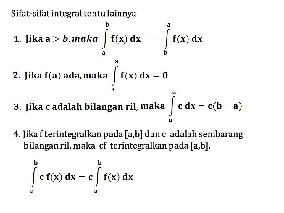 Sifat-sifat integral tentu lainnya