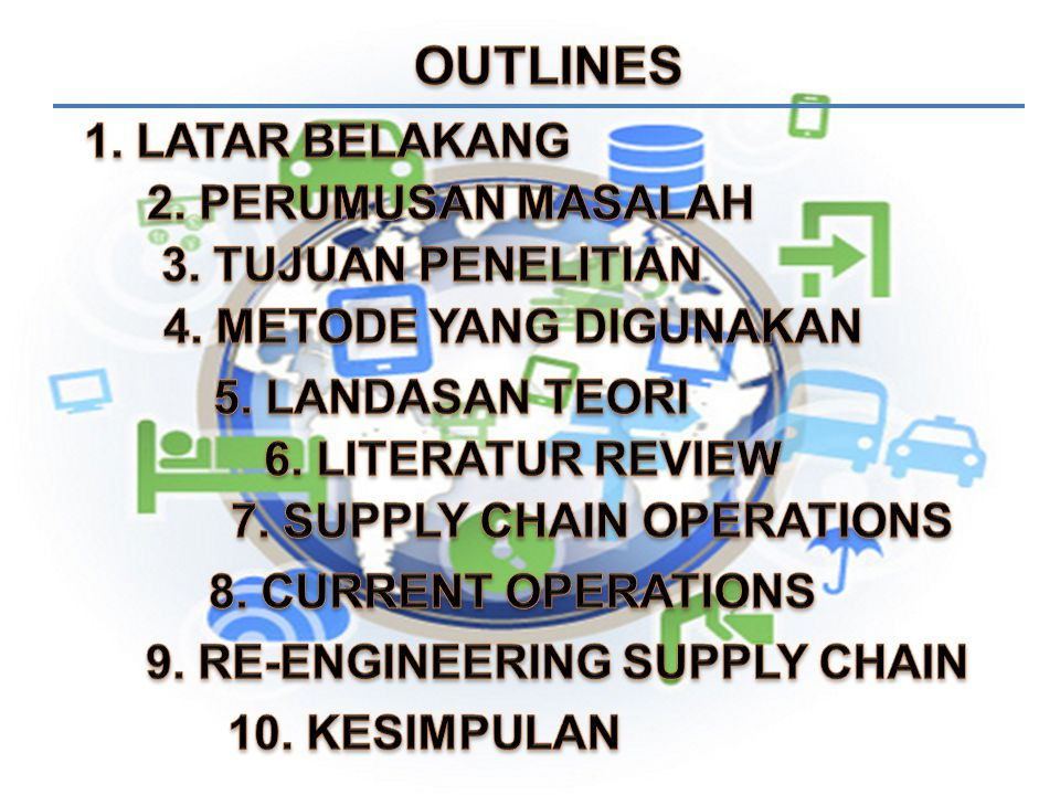 7. SUPPLY CHAIN OPERATIONS 9. RE-ENGINEERING SUPPLY CHAIN