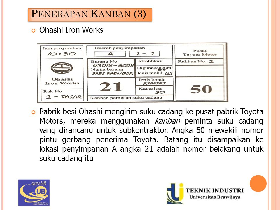 Penerapan Kanban (3) Ohashi Iron Works