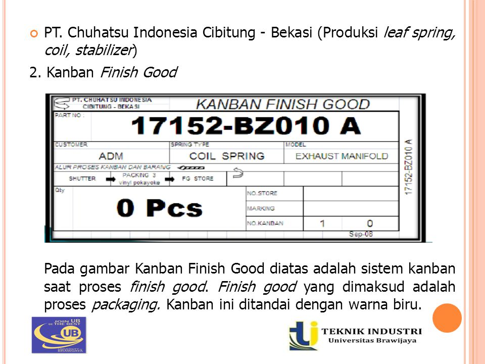 PT. Chuhatsu Indonesia Cibitung - Bekasi (Produksi leaf spring, coil, stabilizer)