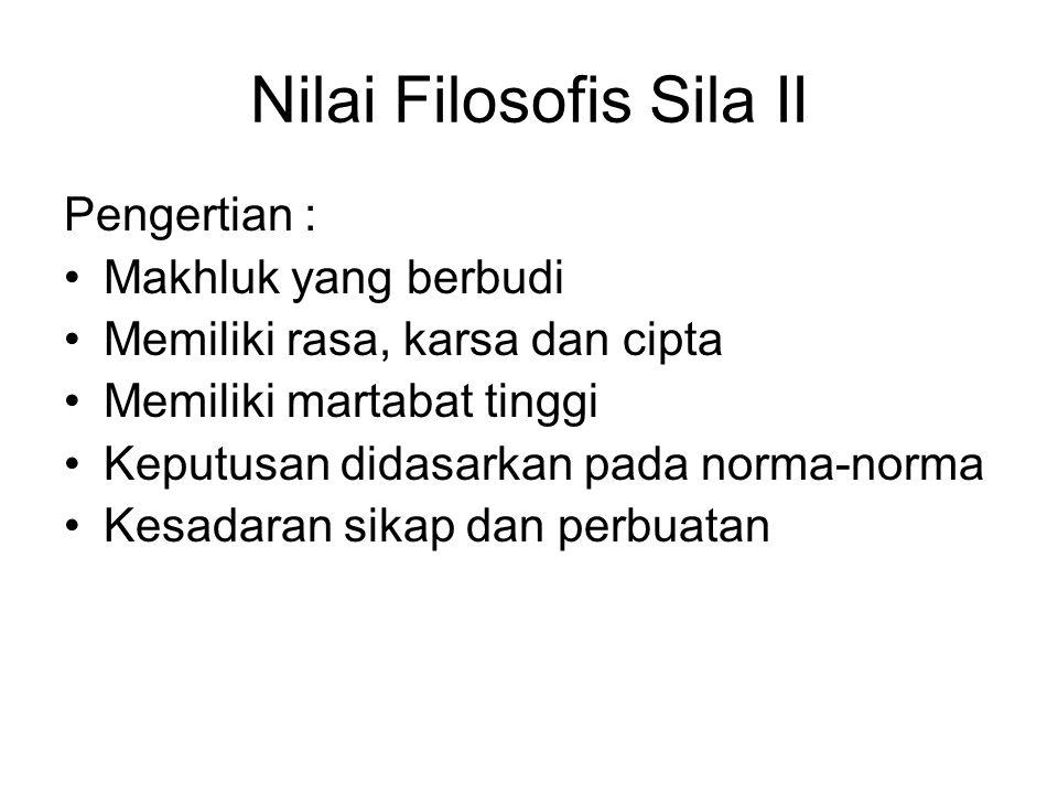Nilai Filosofis Sila II