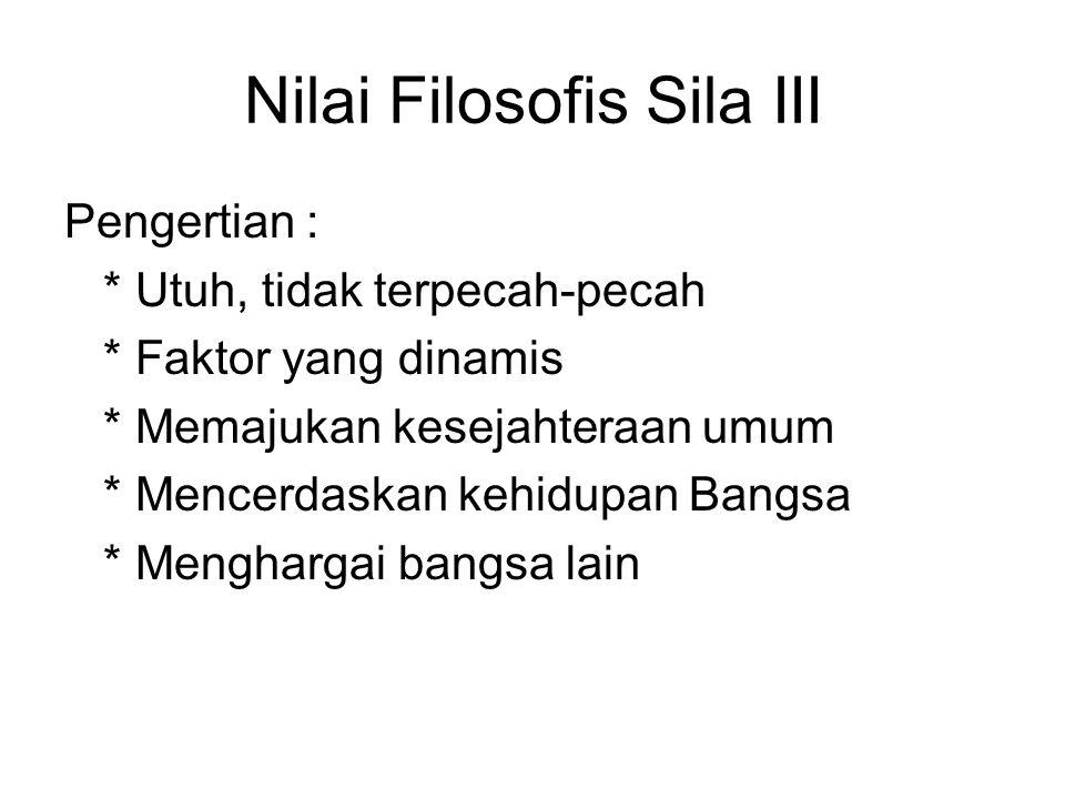 Nilai Filosofis Sila III