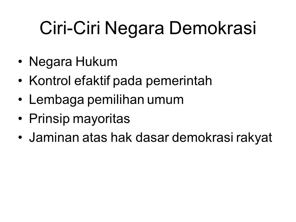 Ciri-Ciri Negara Demokrasi