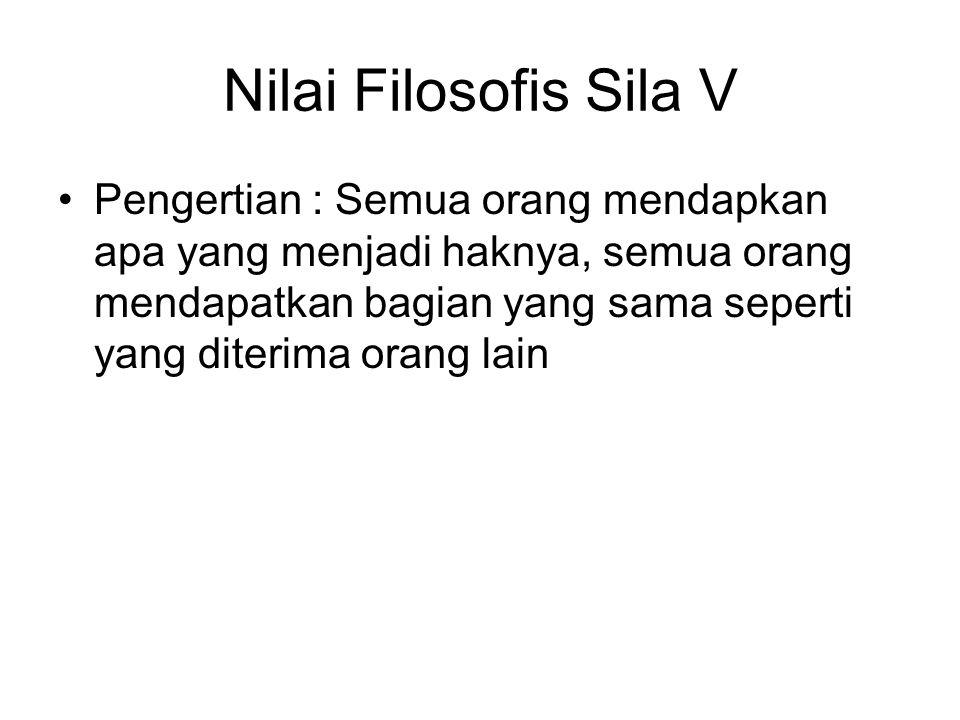 Nilai Filosofis Sila V