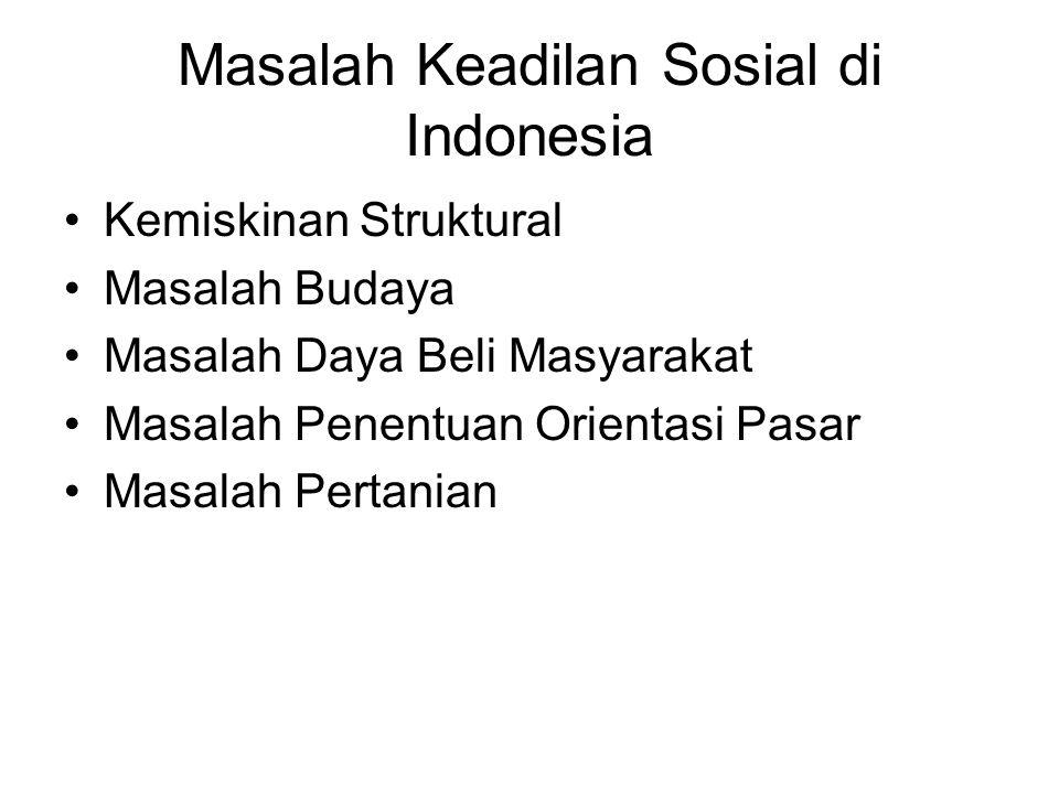 Masalah Keadilan Sosial di Indonesia