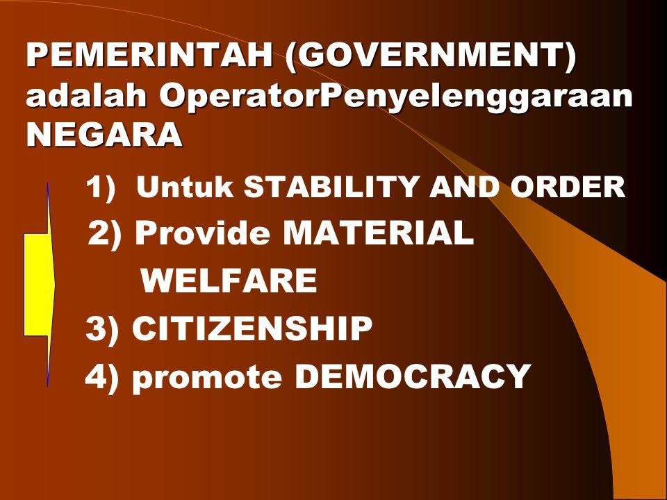 PEMERINTAH (GOVERNMENT) adalah OperatorPenyelenggaraan NEGARA