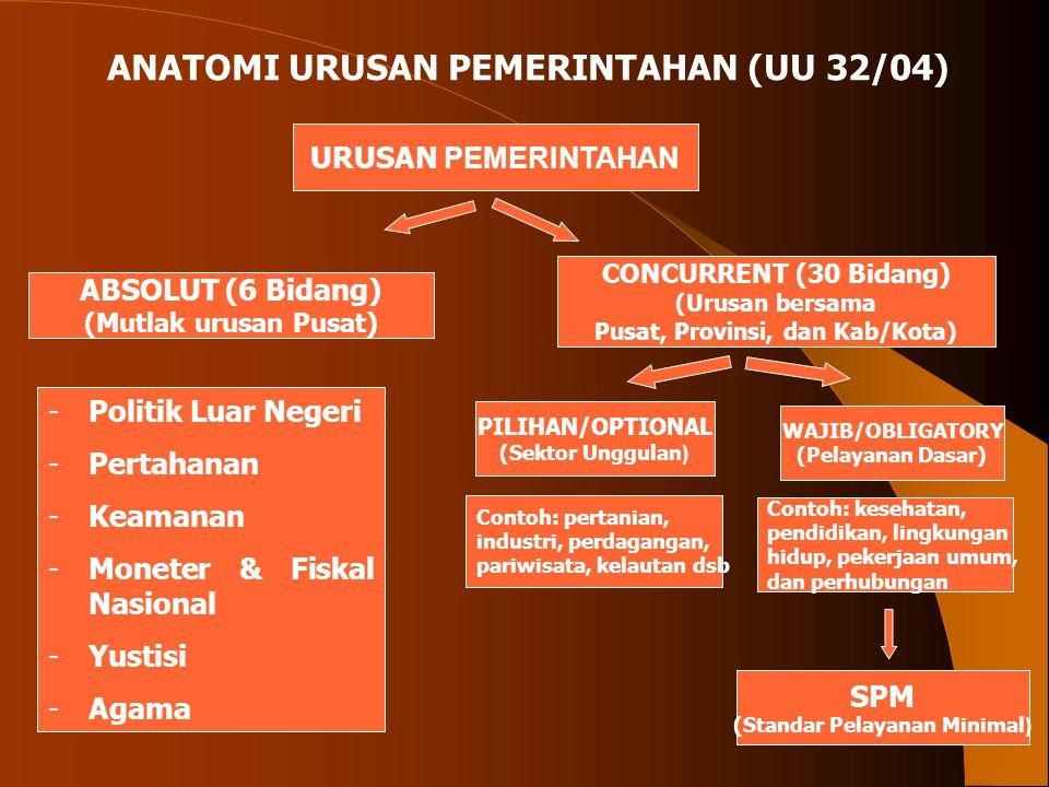 Pusat, Provinsi, dan Kab/Kota) (Standar Pelayanan Minimal)