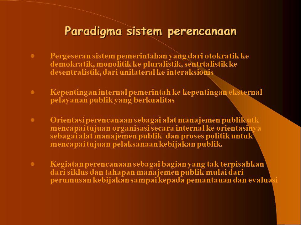 Paradigma sistem perencanaan