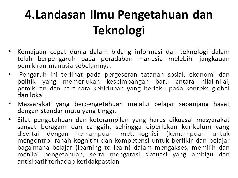 4.Landasan Ilmu Pengetahuan dan Teknologi