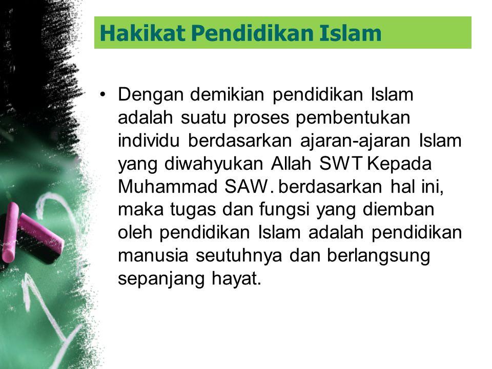Hakikat Pendidikan Islam