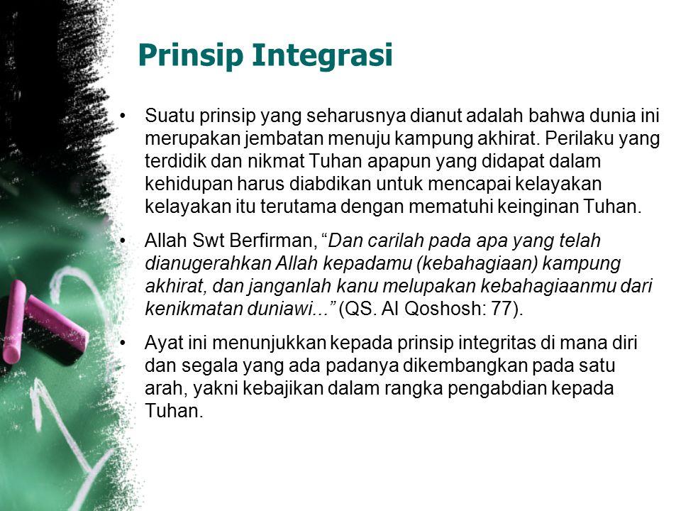 Prinsip Integrasi