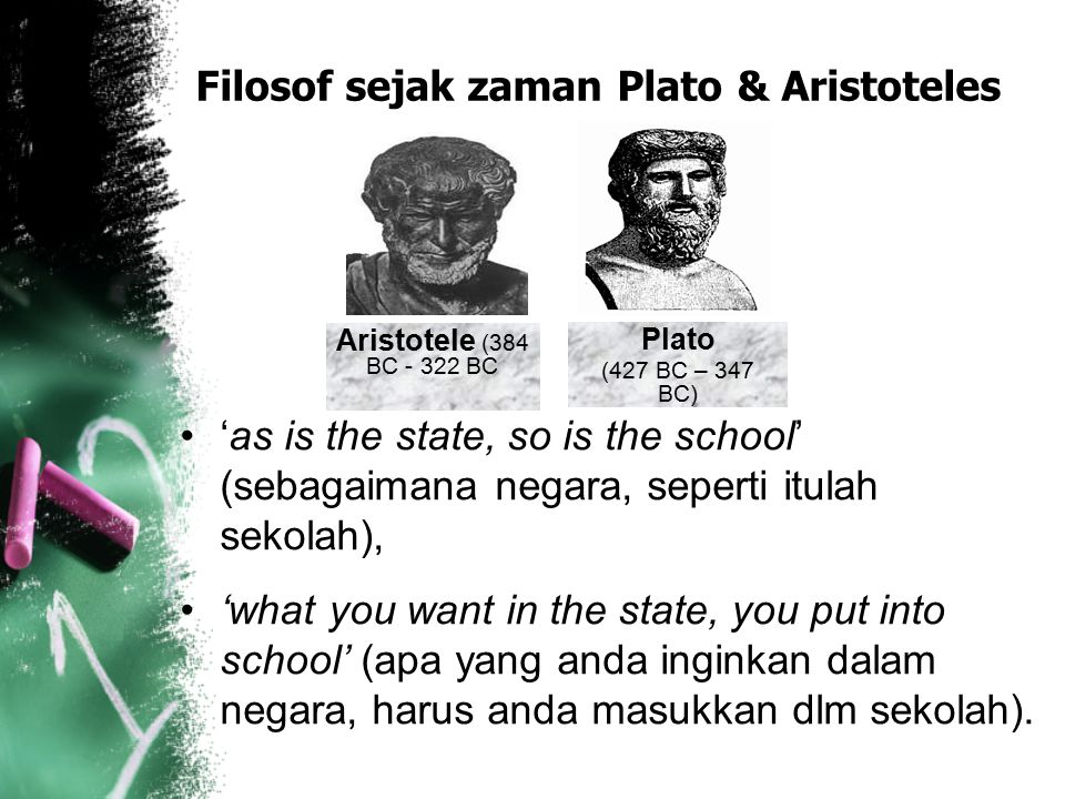 Filosof sejak zaman Plato & Aristoteles
