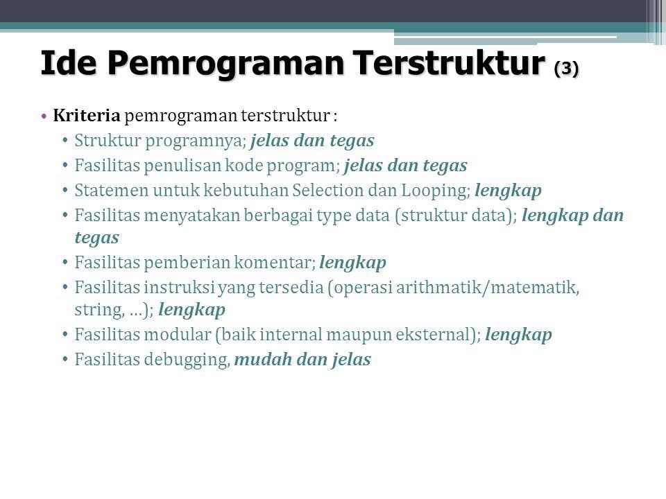 Ide Pemrograman Terstruktur (3)
