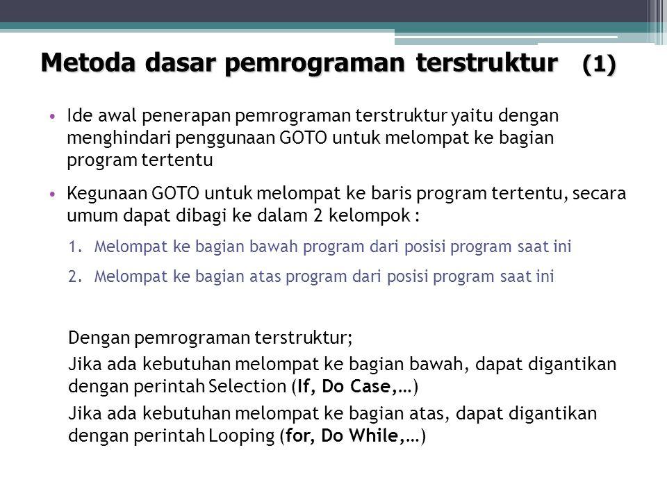 Metoda dasar pemrograman terstruktur (1)